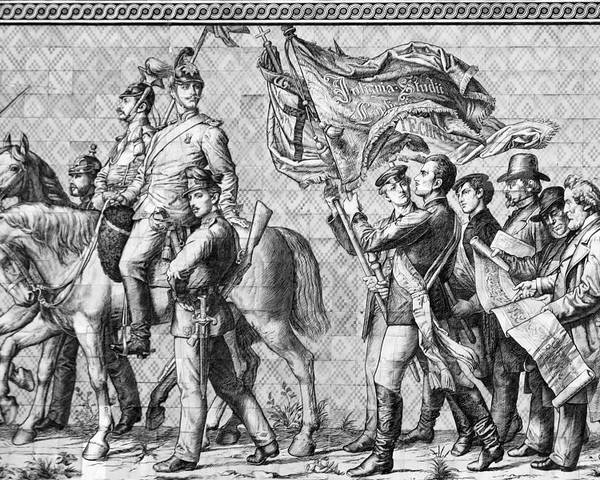 Procession Of Princes Poster featuring the photograph Procession Of Princes - Dresden Germany by Christine Till