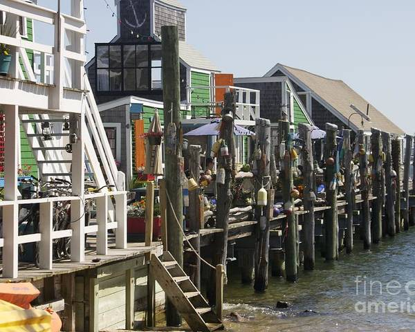 Water Poster featuring the photograph Provincetown Docks by Deborah Talbot - Kostisin