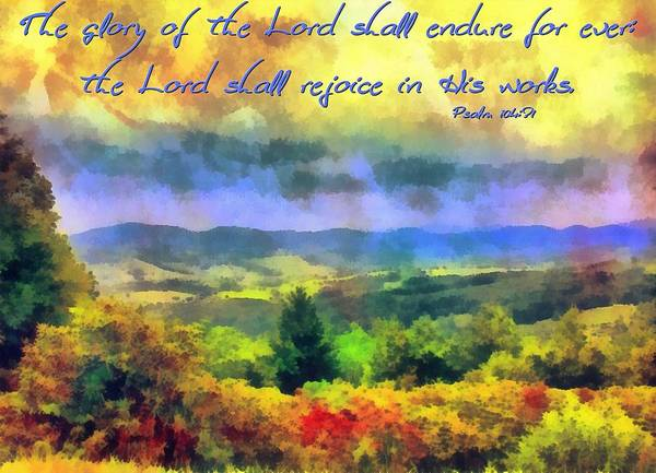 Psalm 104 31 Poster By Michelle Greene Wheeler