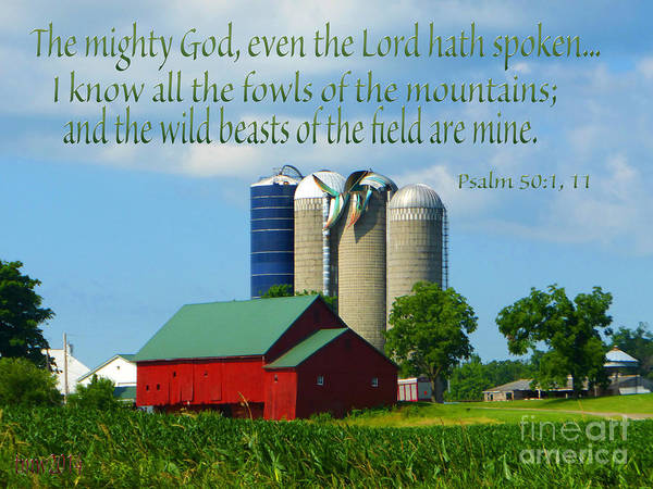 Barn Poster featuring the photograph Psalm 50 by Tina M Wenger