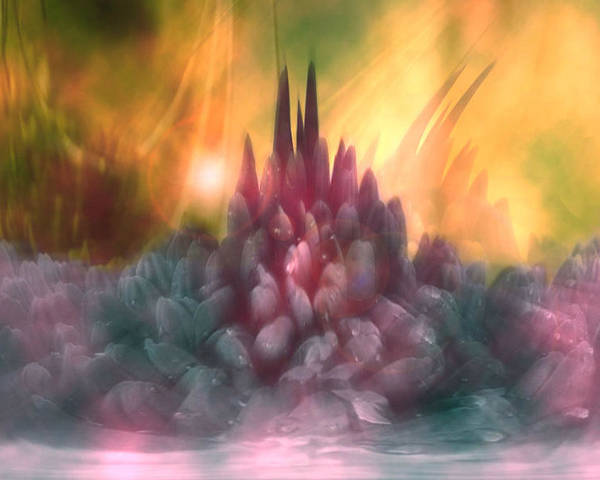 Abstract Poster featuring the digital art Psychedelic Tendencies  by Linda Sannuti