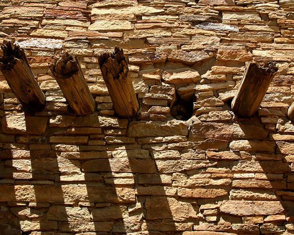 Architecture Poster featuring the photograph Pueblo Bonito Wall by Joe Kozlowski