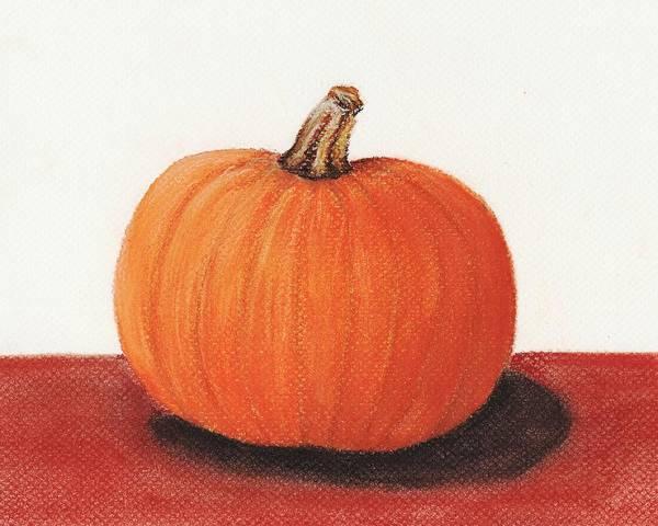Malakhova Poster featuring the painting Pumpkin by Anastasiya Malakhova