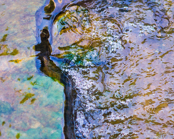 Abstract Poster featuring the photograph Purl Of A Brook 3 - Featured 3 by Alexander Senin