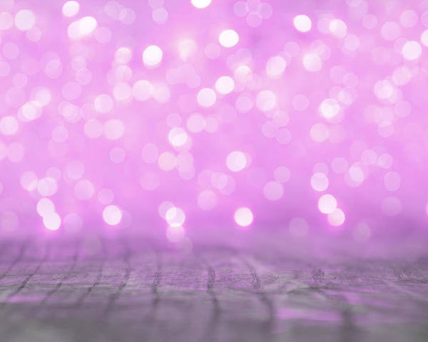 Christmas Poster featuring the photograph Purple Lights Blur by Newnow Photography By Vera Cepic