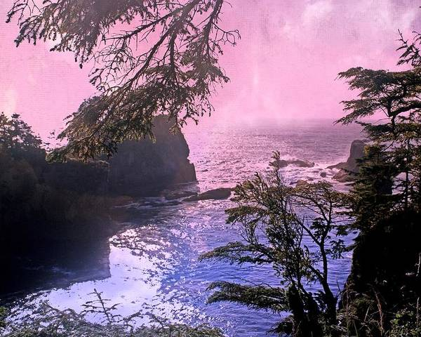 Landscape Poster featuring the photograph Purple Haze by Marty Koch