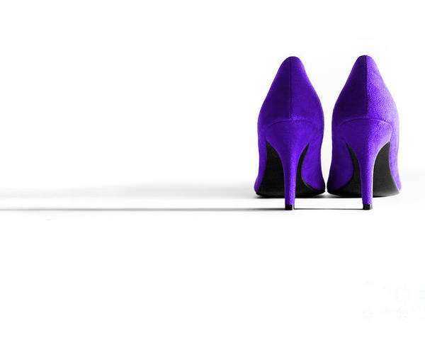 Shoe Poster featuring the photograph Purple High Heel Shoes by Natalie Kinnear