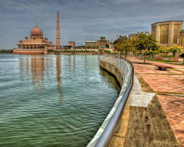 Mosque Poster featuring the photograph Putra Mosque by Adrian Evans
