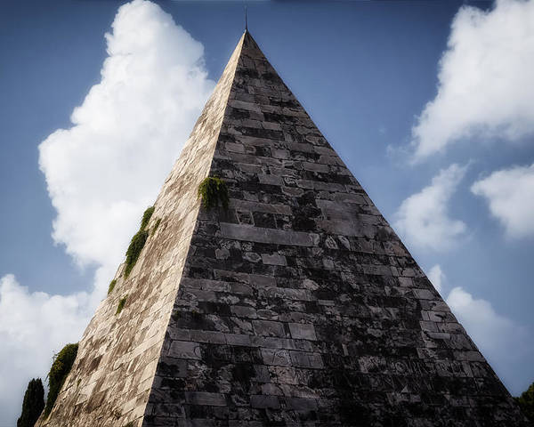 Abstract Poster featuring the photograph Pyramid Of Rome by Joan Carroll