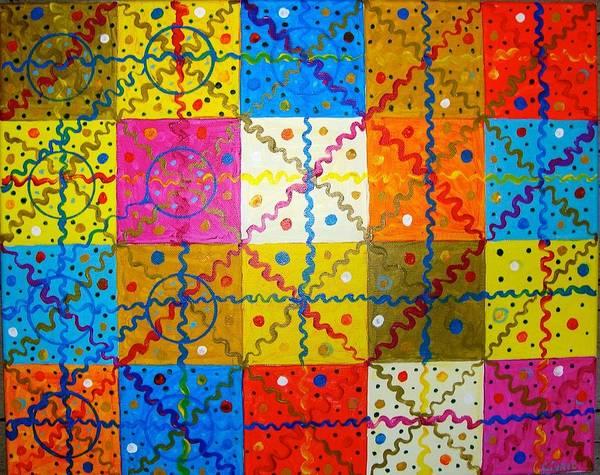 Poster featuring the painting Quadratura Del Cerchio by Biagio Civale