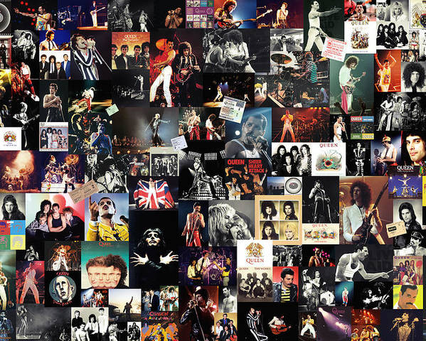 Queen Collage Poster By Zapista Zapista