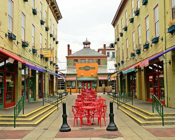 Cincinnati Poster featuring the photograph Quiet Day at Findlay Market by David Earl Johnson