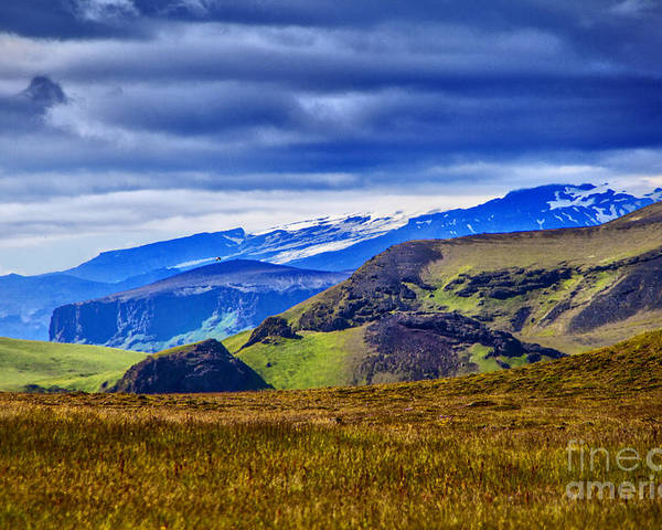 Iceland Solitude Land Beauty Sky Scenes Poster featuring the photograph Quiet Hill by Rick Bragan