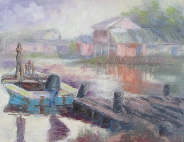 East Point Poster featuring the painting Quiet Morning In East Point by Susan Richardson