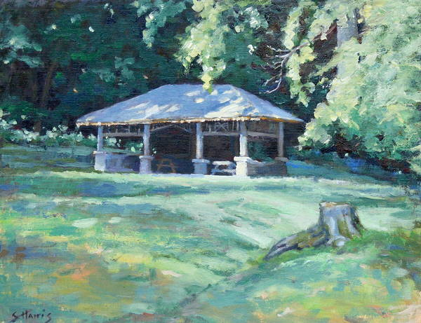 Frist Shelter Poster featuring the painting Quiet Resting Place by Sandra Harris