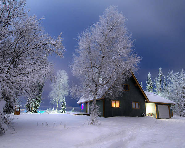 Winter Poster featuring the photograph Quiet Winter Times by Ron Day
