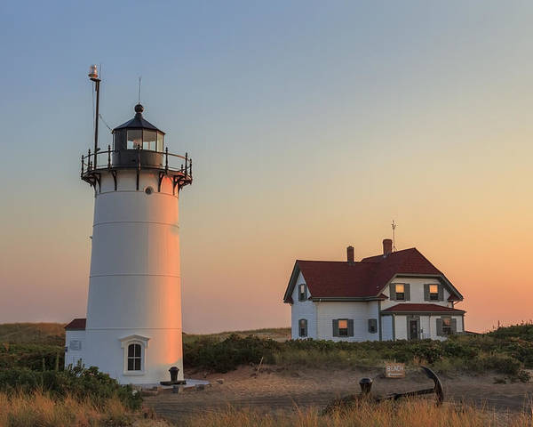 Race Point Light Poster featuring the photograph Race Point Lighthouse by Bill Wakeley