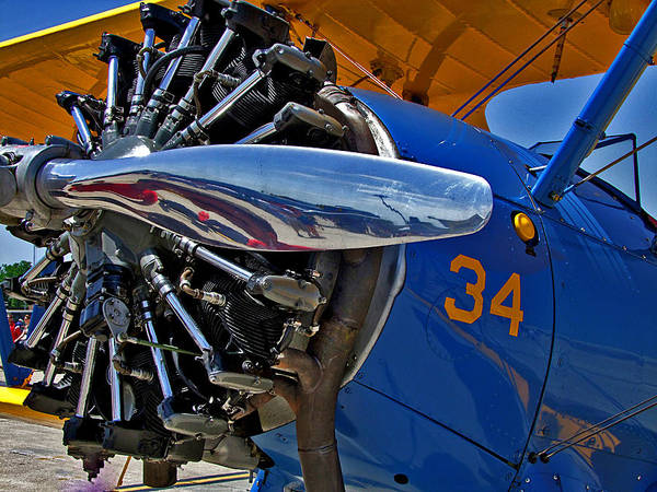 Airplane Poster featuring the photograph Radial Engine by Lamyl Hammoudi