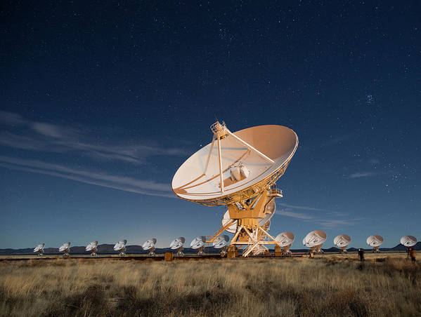 Array Poster featuring the photograph Radio Telescopes At An Astronomy by Maresa Pryor