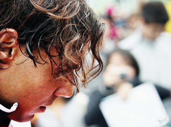 Rafa Nadal Poster featuring the photograph Rafael Nadal From Up Close by Nishanth Gopinathan