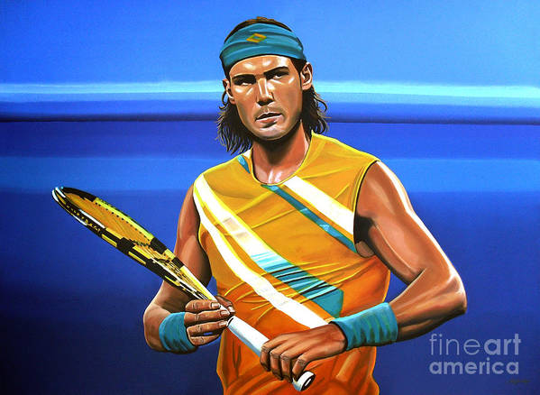 Rafael Nadal Poster featuring the painting Rafael Nadal by Paul Meijering