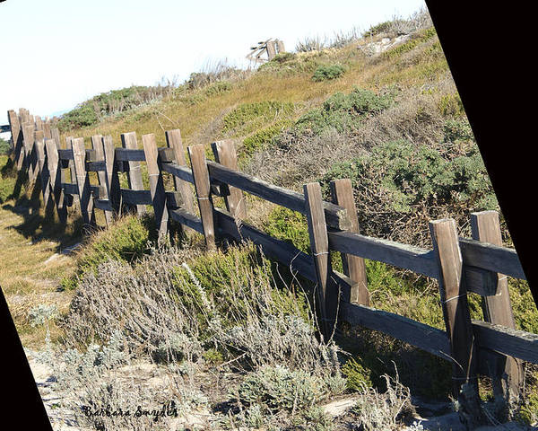 Rail Fence Black Poster featuring the digital art Rail Fence Black by Barbara Snyder