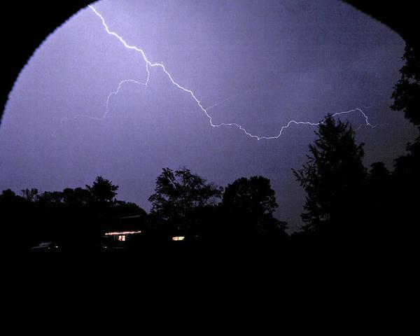Lightning Poster featuring the photograph Rain Hood by Nikolas Kolenich