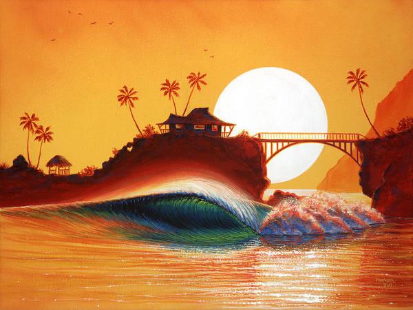 Patrick Parker Art Poster featuring the painting Rainbow Bridge by Patrick Parker