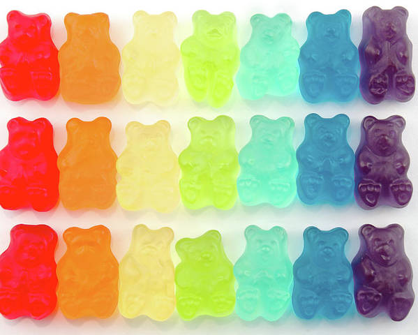 Order Poster featuring the photograph Rainbow Jelly Bear Candy by Melissa Ross