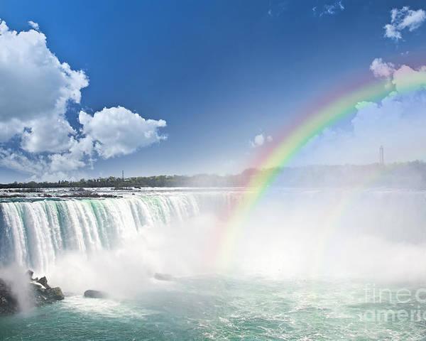 Niagara Poster featuring the photograph Rainbows At Niagara Falls by Elena Elisseeva
