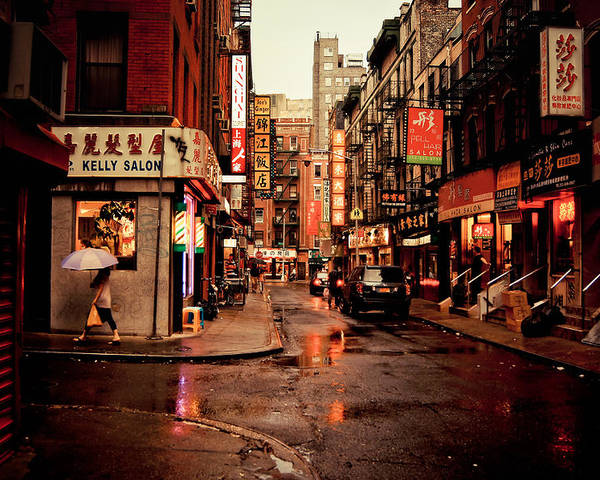 New York City Poster featuring the photograph Rainy Street - New York City by Vivienne Gucwa