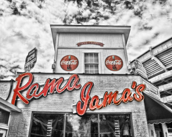 Selective Color Poster featuring the photograph Rama Jama's by Scott Pellegrin