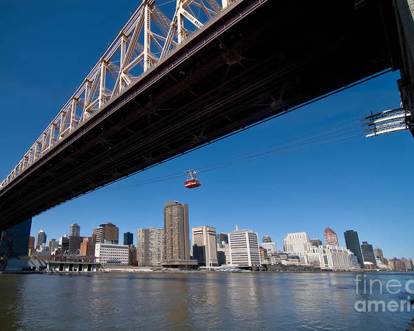 Bridge Poster featuring the photograph Randall Island Tram by Amy Cicconi