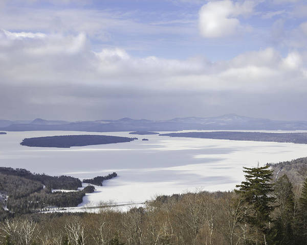 Maine Poster featuring the photograph Rangeley Maine Winter Landscape by Keith Webber Jr
