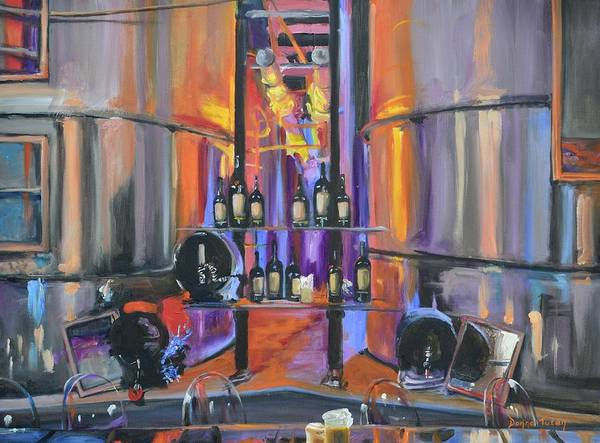 Wine Poster featuring the painting Raymond Vineyards Crystal Cellar II by Donna Tuten