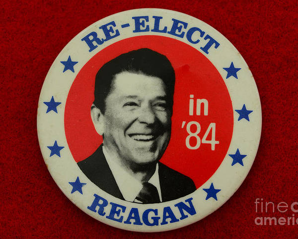Paul Ward Poster featuring the photograph Re-elect Reagan by Paul Ward