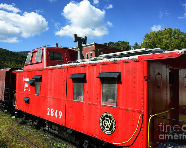 Durbin Rocket Poster featuring the photograph Really Red Caboose by Thomas R Fletcher