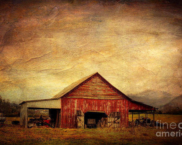 Barn Poster featuring the photograph Red Barn by Joan McCool