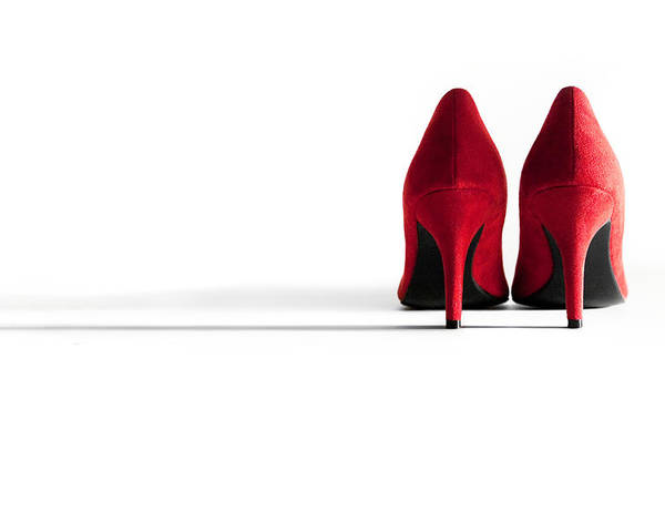 Shoe Poster featuring the photograph Red High Heel Shoes by Natalie Kinnear