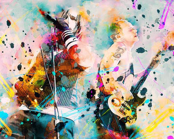 Red Hot Chili Peppers Poster By Rosalina Atanasova