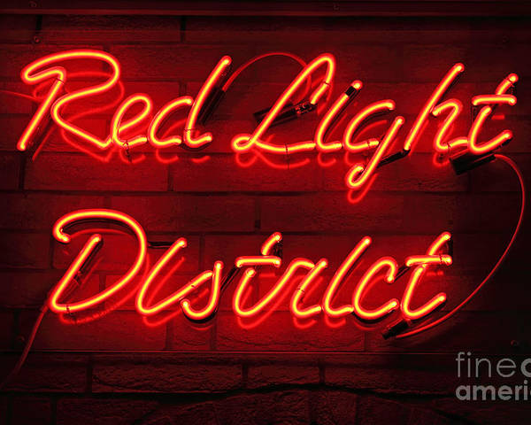 Red Poster featuring the photograph Red Light District by Kiril Stanchev