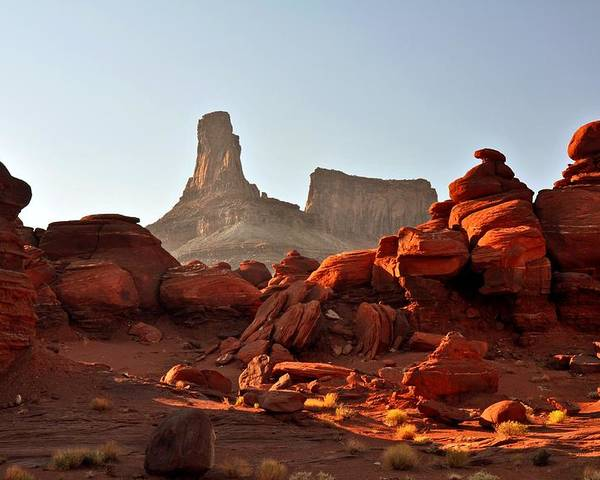 Landscape Poster featuring the photograph Red Rock And Spire by Marty Koch