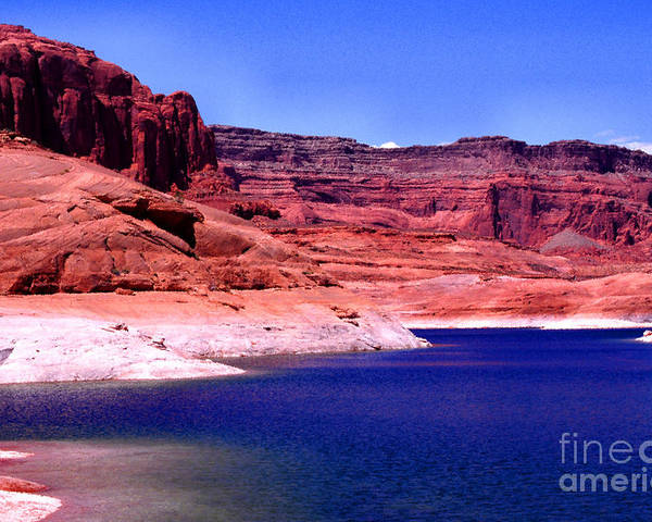 Lake Powell Poster featuring the photograph Red Rock Blue Sky by Thomas R Fletcher