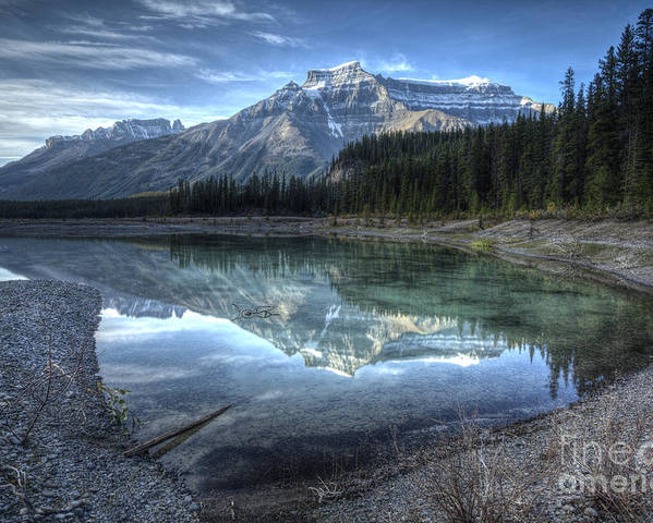 Graveyard Flats Poster featuring the photograph Reflection Of Mount Amery At Graveyard Flats by Brian Stamm