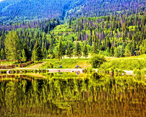 Vail Poster featuring the photograph Reflections On A Summer Day - Vail - Colorado by Madeline Ellis