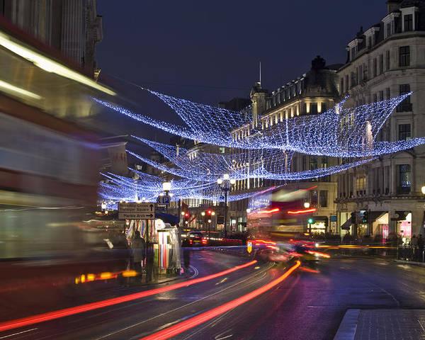 Regent Poster featuring the photograph Regent Street Lights by Matthew Gibson