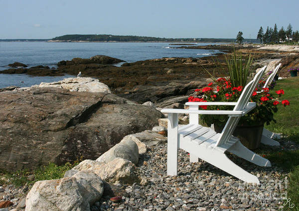 Maine Shore Poster featuring the photograph Relaxing Afternoon by Mariarosa Rockefeller