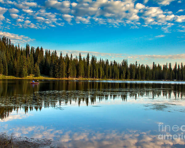 Wallowa Mountains Poster featuring the photograph Relaxing On The Lake by Robert Bales