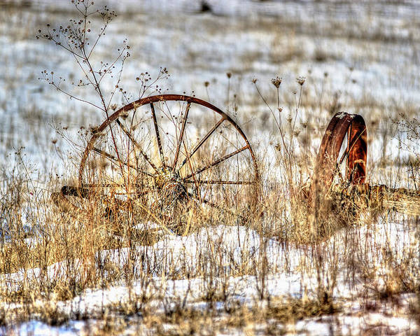 Wagon Wheels Poster featuring the photograph Relic by Thomas Danilovich