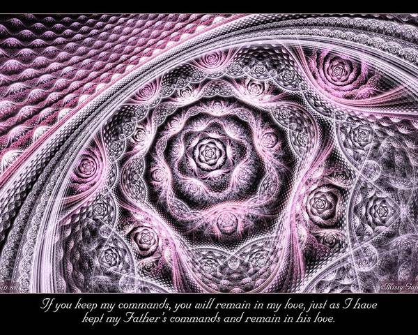 Fractal Poster featuring the digital art Remain by Missy Gainer